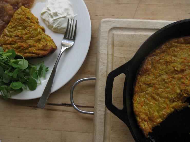 Scandinavian Carrot Pancake | One Wooden Spoon
