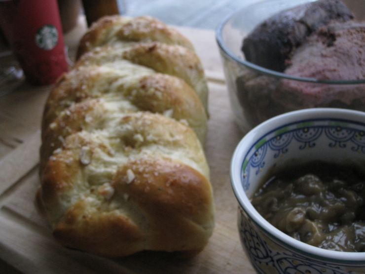 Roast Beef & Madeira Gravy Sandwiches | One Wooden Spoon