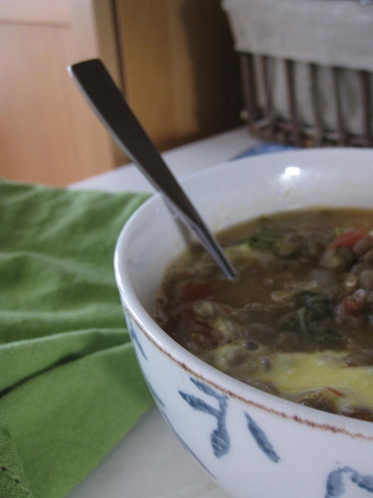 Lentil Soup with Saffron Yogurt | One Wooden Spoon