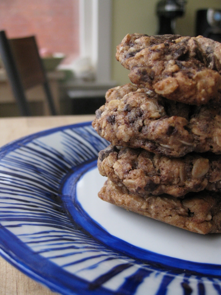 Oatmeal Hazelnut Chocolate Chip Cookies | One Wooden Spoon