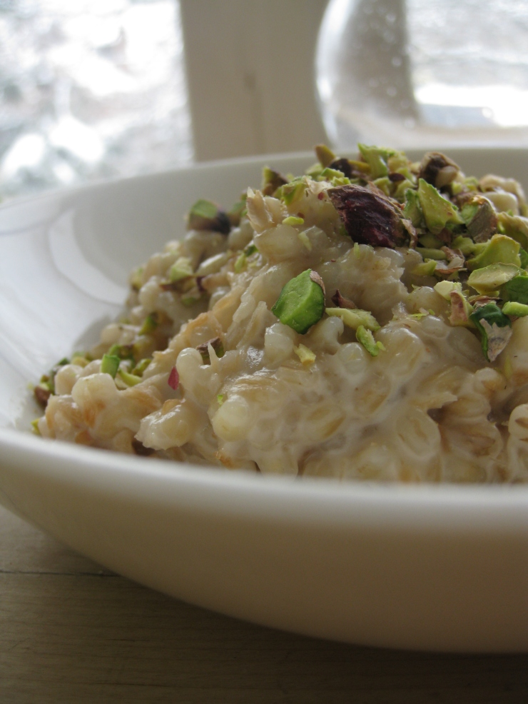 Spiced Coconut Barley with Pistachios and Maple | One Wooden Spoon