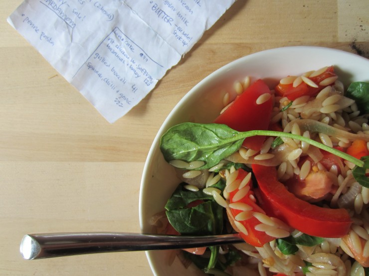 Summer Orzo Salad |One Wooden Spoon