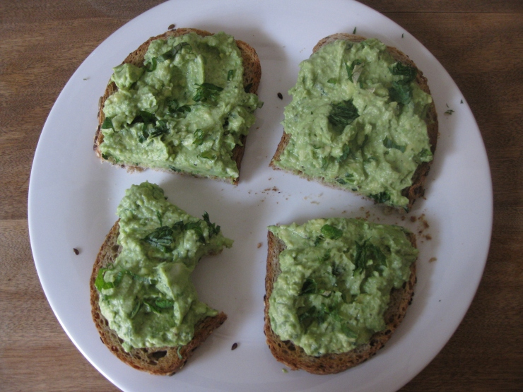 Avocado, Goat Cheese & Lime on Toast | One Wooden Spoon